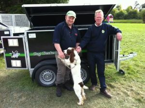 Sean Being Presented with the KM Engineering Dog Trailer for Top Gun Dog